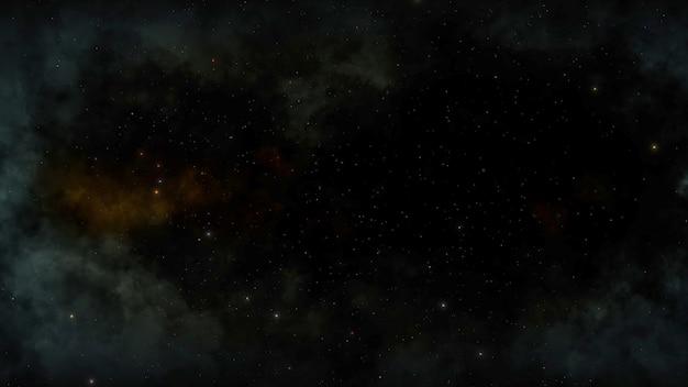 Cząstki i gwiazdy w galaktyce, streszczenie tło. elegancka i luksusowa ilustracja 3d w stylu kosmosu