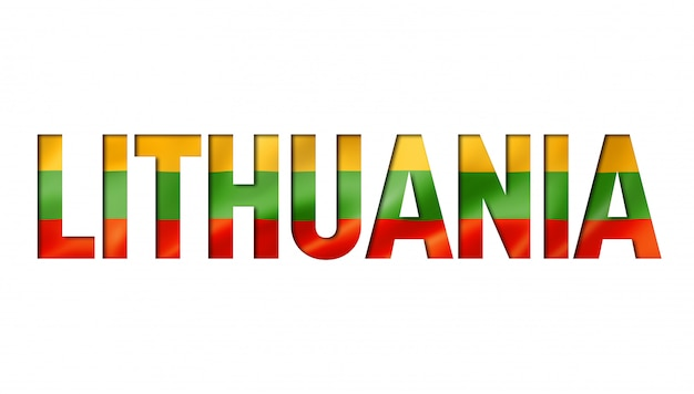 Czcionka tekstu flagi litewskiej
