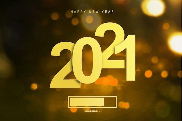Czekam na 2021. szczęśliwego nowego roku 2021