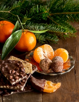 Czekolada, trufle i mandarynki
