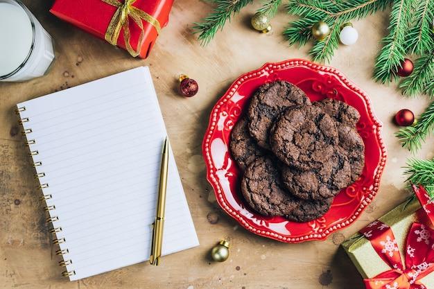 Czekoladowe ciasteczka na boże narodzenie