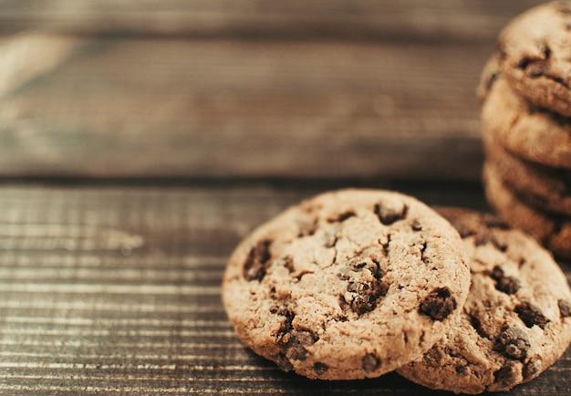Czekoladowe ciasteczka toffi migdałowe