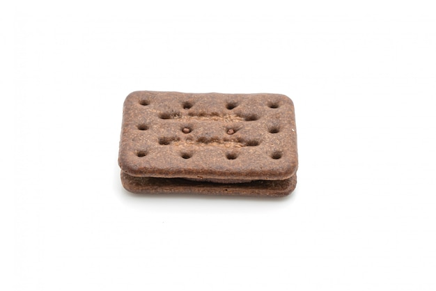 Czekoladowe ciasteczka z kremem czekoladowym