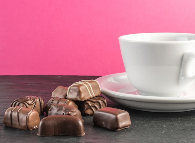 Czekoladowe słodycze tło