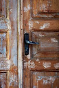 Czerep stary podławy brown drewniany drzwi