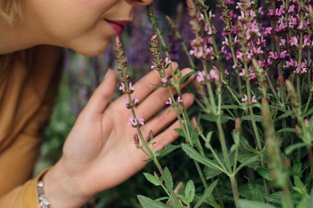 Czerp przyjemność z aromatów kwiatów. życie w mieście. aromaterapia. florystyka. piękno jest w naturze. zioła medyczne. czerp przyjemność z życia. styl życia.