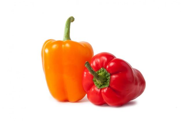 Czerwona i żółta papryka