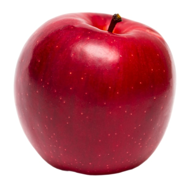 Czerwona jabłczana owoc odizolowywająca na białym tle