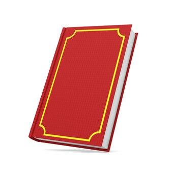 Czerwona książka na białym tle.