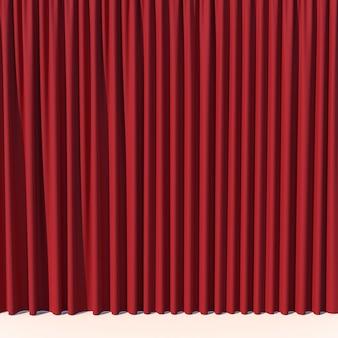 Czerwona kurtyna sceniczna