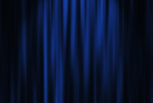 Czerwona kurtyna teatralna z oświetleniem punktowym