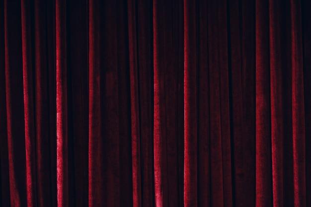 Czerwona kurtyna tekstura