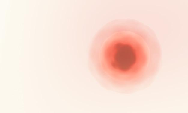 Czerwona mikroskopijna komórka renderowana w 3d