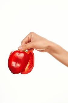 Czerwona papryka składnik papryki warzywa sałatka do gotowania