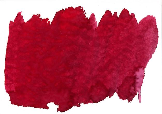 Czerwona plama akwarela