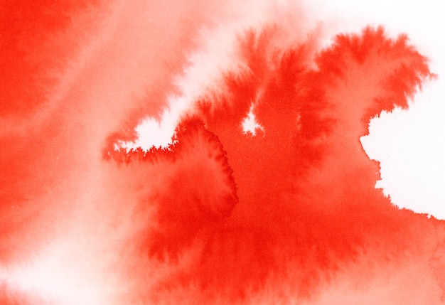 Czerwona plama akwarelowa