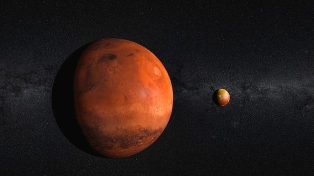 Czerwona planeta, galaktyka