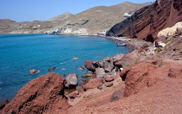 Czerwona plaża - santorini island - grecja