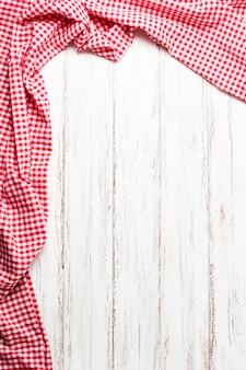 Czerwona ramka tkaniny z miejsca na kopię