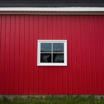 Czerwona ściana połowów rzucić w porcie, kensington, prince edward island, kanada