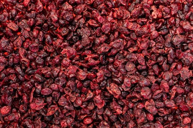 Czerwona suszona śliwka bez powierzchni nasion