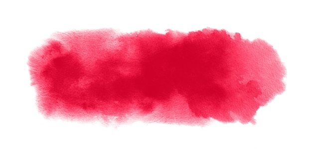 Czerwona tekstura akwarela z plamą akwareli, plamy farby