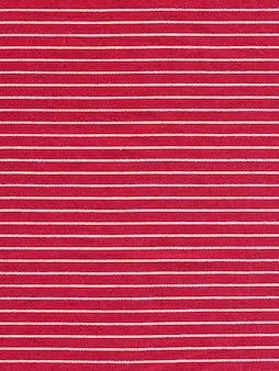 Czerwona tekstura tkaniny w biały pasek
