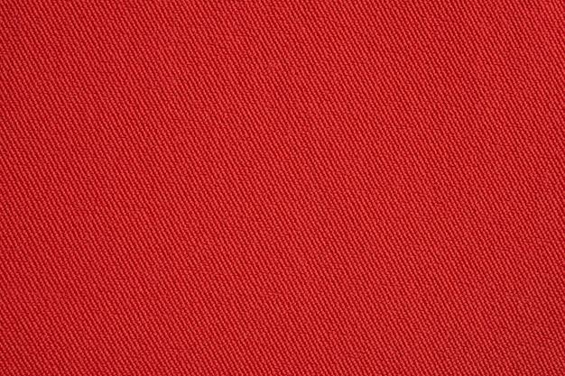 Czerwona tkanina tekstura tło z bliska