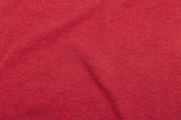 Czerwona tkaniny tekstura, płótna deseniowy tło.