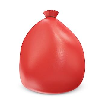 Czerwona torba na białym tle