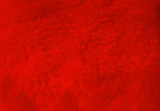 Czerwone futro tło bliska widok. tapeta z teksturą
