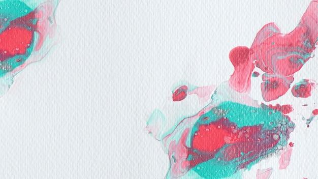 Czerwone i zielone tło akwarela malarstwo