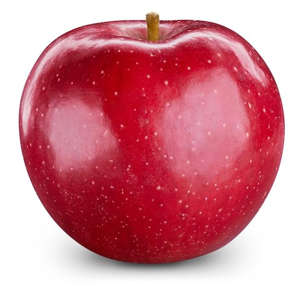 Czerwone jabłka na białym tle. dojrzałe świeże jabłka clipping path