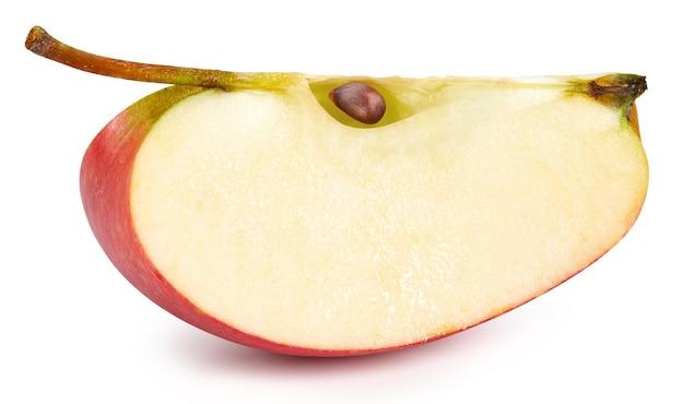 Czerwone jabłka na białym tle. dojrzałe, świeże jabłka