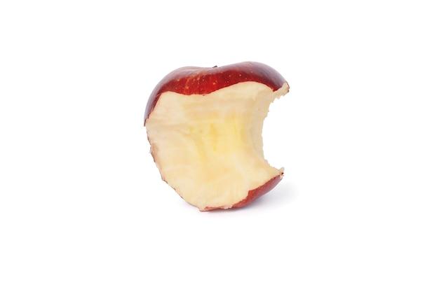 Czerwone jabłko ugryziony