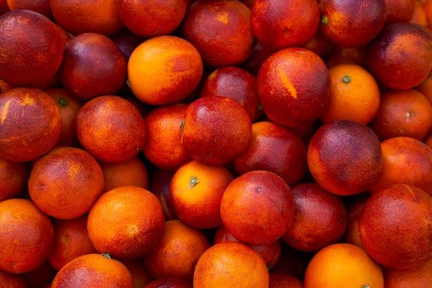 Czerwone krwawe pomarańcze z morza śródziemnego