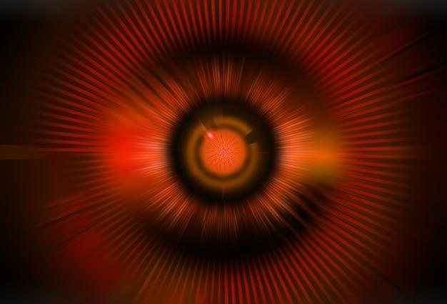Czerwone oko cyber obwodu przyszłości technologii koncepcja tło