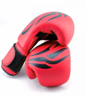 Czerwone rękawice bokserskie