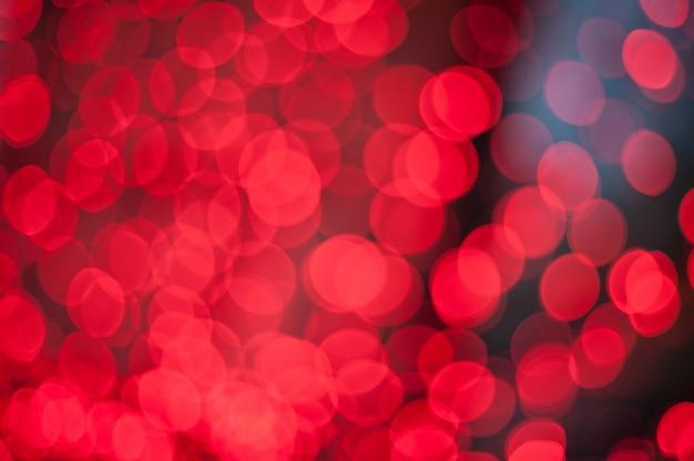 Czerwone światła bokeh