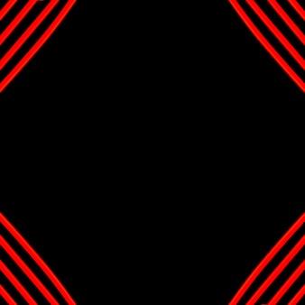 Czerwone światło linia na czarnym tle