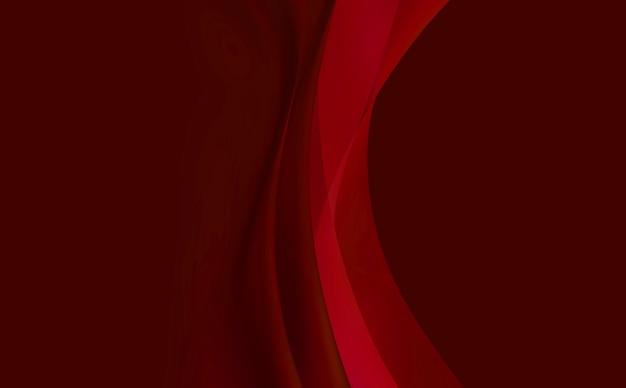 Czerwone tło, abstrakcja z wygładzonymi liniami.