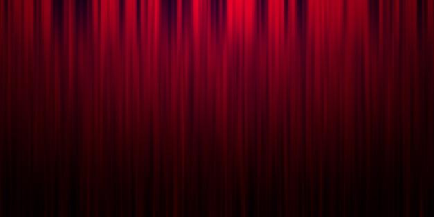 Czerwone tło kurtyny