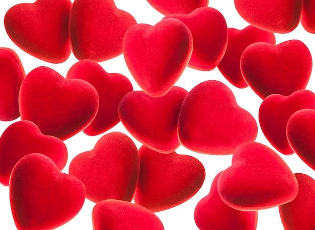 Czerwone tło z serca.
