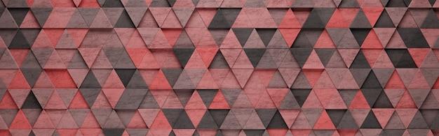 Czerwone trójkąty wzór tła 3d