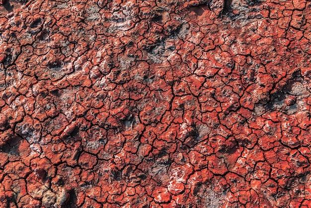 Czerwone wulkaniczne tło gleby
