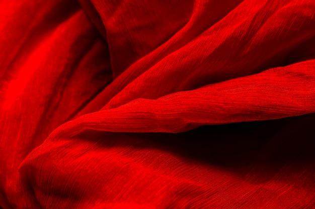 Czerwonej tkaniny materialna tekstura z kopii przestrzenią