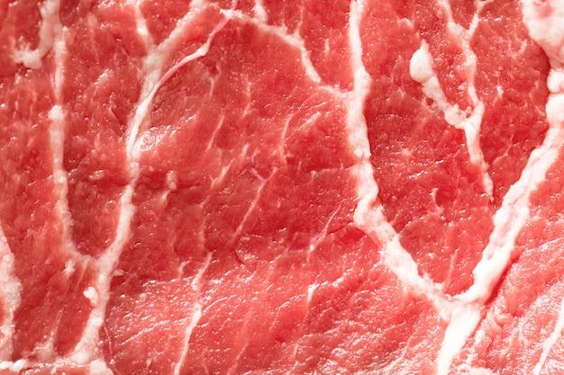 Czerwonej wołowiny mięsa zakończenie w górę tekstury