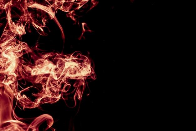 Czerwony dym streszczenie tło.