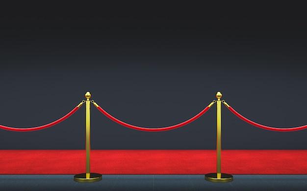 Czerwony dywan 3d