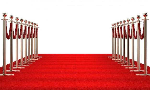 Czerwony dywan na bielu